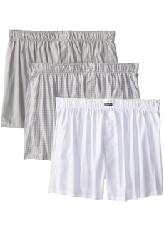 Calvin Klein Men's Underwear 3 Pack Cotton Classic Woven Boxers