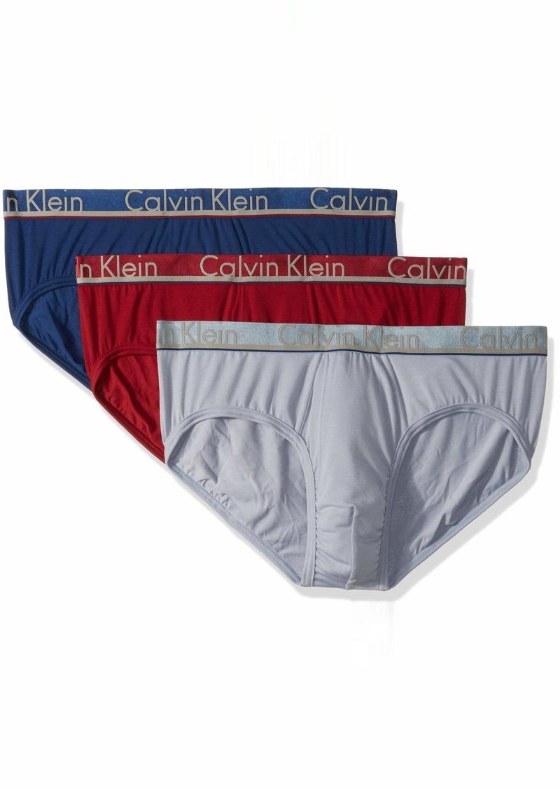 edbad31c66bd Calvin Klein Men's Underwear Comfort Microfiber Briefs Biking red/Dusty  Blue/Capsize XL