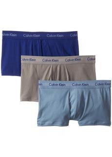 Calvin Klein Men's Underwear 3 Pack Cotton Stretch Low Rise Trunks