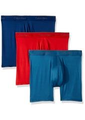 Calvin Klein Men's Underwear Microfiber Stretch 3 Pack BoxerBrief Capsize/Downpour/Manic red XL