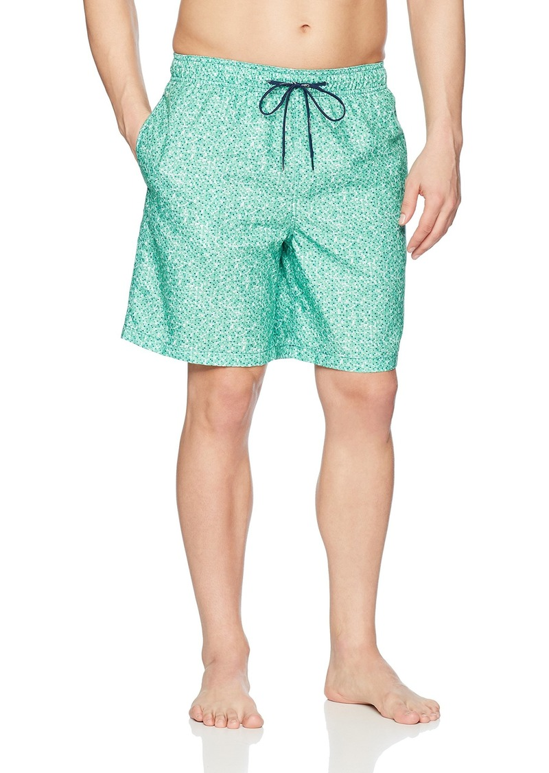 Calvin Klein Men's Water Tile Printed Swim Trunk