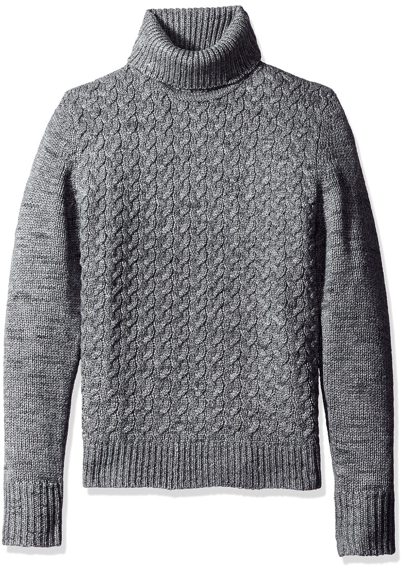 6e1f6f791e8d Calvin Klein Calvin Klein Men s Wool Cable Knit Turtleneck Sweater ...