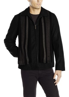 Calvin Klein Men's Wool Short Scarf Coat