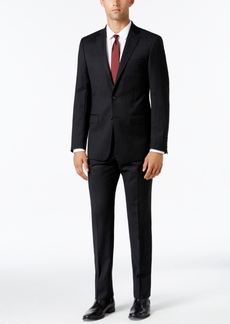 Calvin Klein Men's X-Fit Black and Gray Check Slim Fit Suit