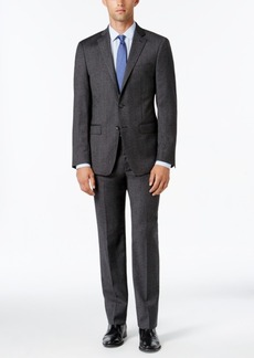 Calvin Klein Men's X-Fit Charcoal Donegal Slim Fit Suit