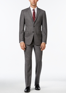 Calvin Klein Men's X-Fit Gray Donegal Slim Fit Suit