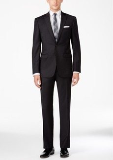Calvin Klein Men's X-Fit Slim Fit Neat Charcoal Suit
