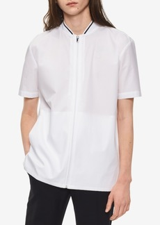 Calvin Klein Men's Zip-Front Shirt