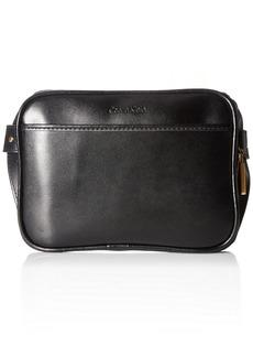 Calvin Klein Men's Zip Top Belt Bag Logo/Black Brushed Gold