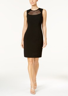 Calvin Klein Mesh-Inset Sheath Dress, Regular & Petite Sizes