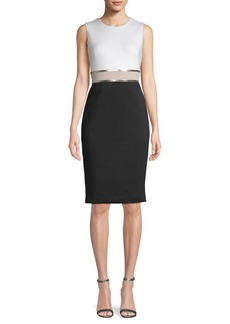 Calvin Klein Metallic-Accent Sheath Dress