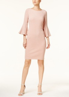 Calvin Klein Metallic Bell-Sleeve Sheath Dress, Regular & Petite Sizes, A Macy's Exclusive Style