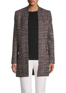 Calvin Klein Metallic Boucle Longline Jacket