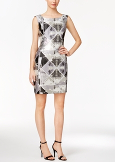 Calvin Klein Metallic Brocade Sheath Dress