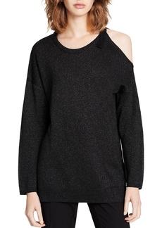 Calvin Klein Metallic Cold-Shoulder Sweater - 100% Exclusive