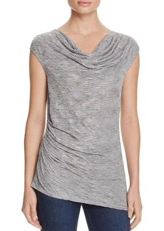 Calvin Klein Metallic Cowl Neck Top