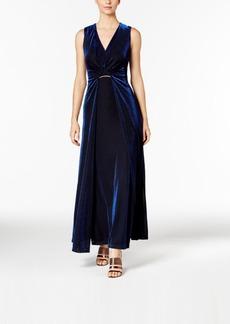 Calvin Klein Metallic Gathered Gown