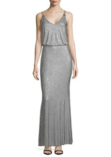 Calvin Klein Metallic Knit Blouson Dress