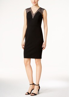 Calvin Klein Metallic Lace Sheath Dress