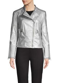 Calvin Klein Metallic Moto Jacket