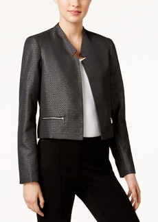 Calvin Klein Metallic Open-Front Jacket
