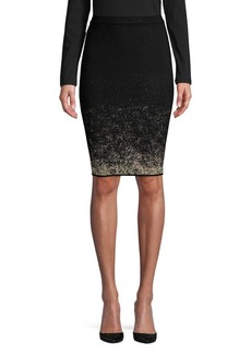 Calvin Klein Metallic Pencil Skirt