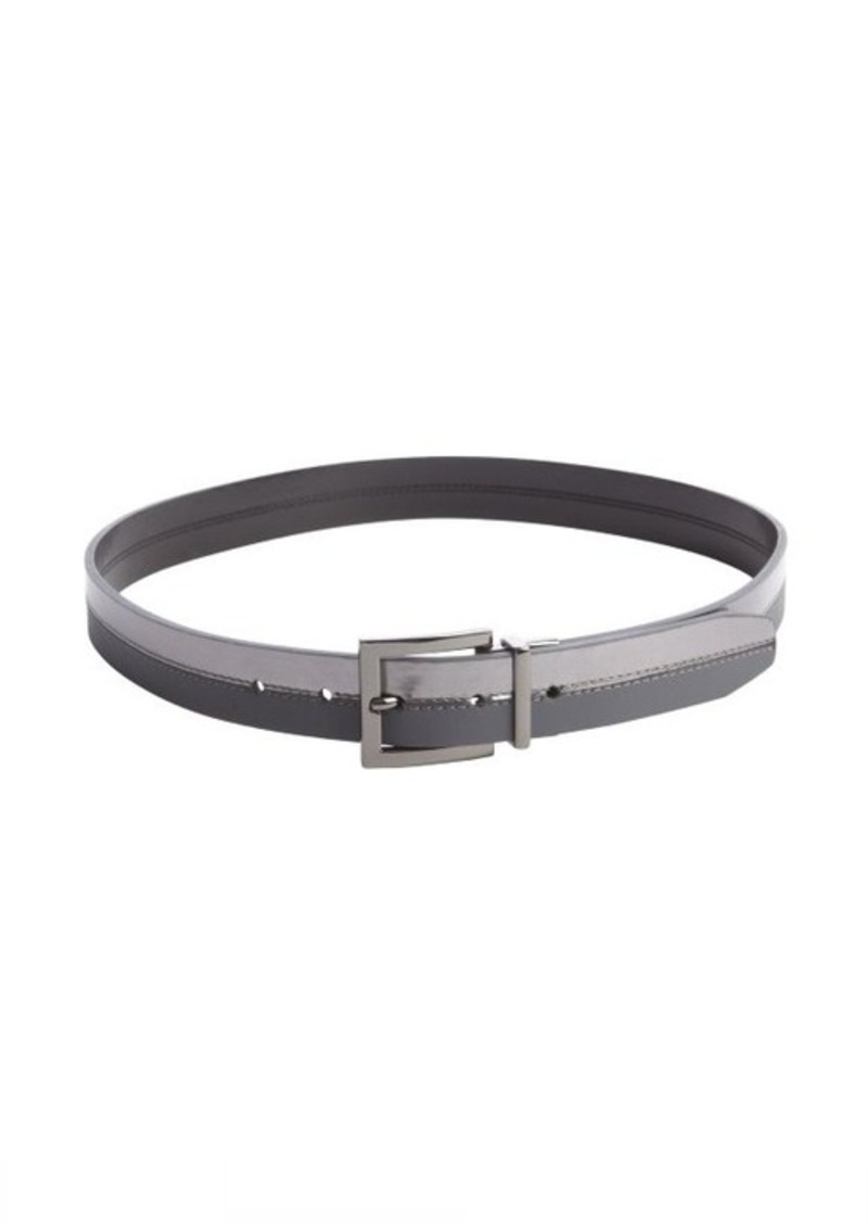 Calvin Klein metallic pewter and grey reversible belt