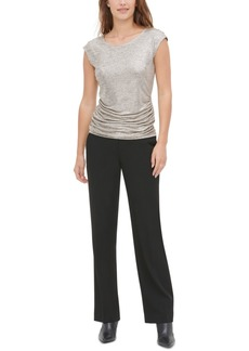 Calvin Klein Metallic Ruched Top