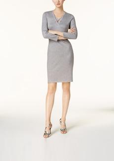 Calvin Klein Metallic Sweater Dress, Regular & Petite