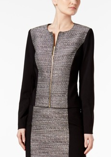 Calvin Klein Metallic Tweed-Front Blazer