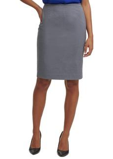 Calvin Klein Micro-Check Pencil Skirt