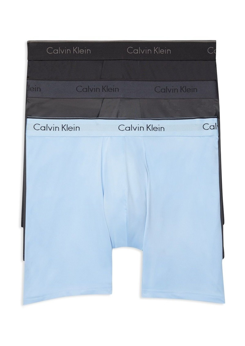 Calvin Klein Microfiber Stretch Boxer Briefs - Pack of 3