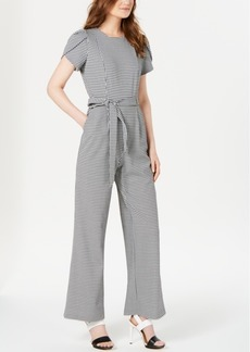 Calvin Klein Mini Check Belted Jumpsuit