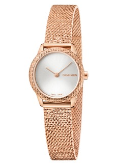 Calvin Klein Minimal Mesh Bracelet Watch, 24mm