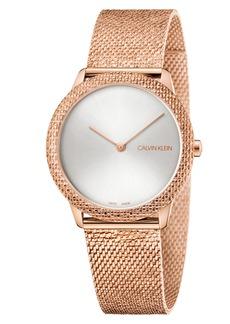 Calvin Klein Minimal Mesh Strap Watch, 35mm