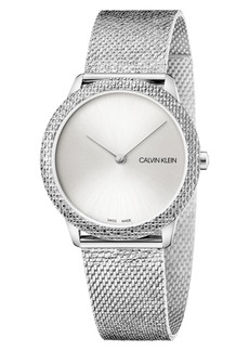 Calvin Klein Minimal Mesh Strap Watch, 35mm