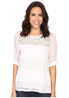 Calvin Klein Mixed Lace Roll Sleeve