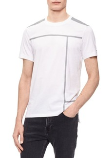 Calvin Klein Mixed Media Short-Sleeve T-Shirt