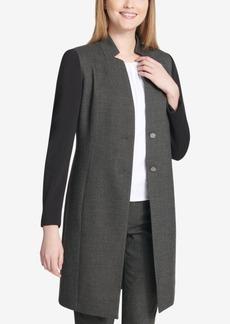 Calvin Klein Mixed-Media Topper Jacket