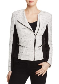 Calvin Klein Mixed Media Tweed Jacket