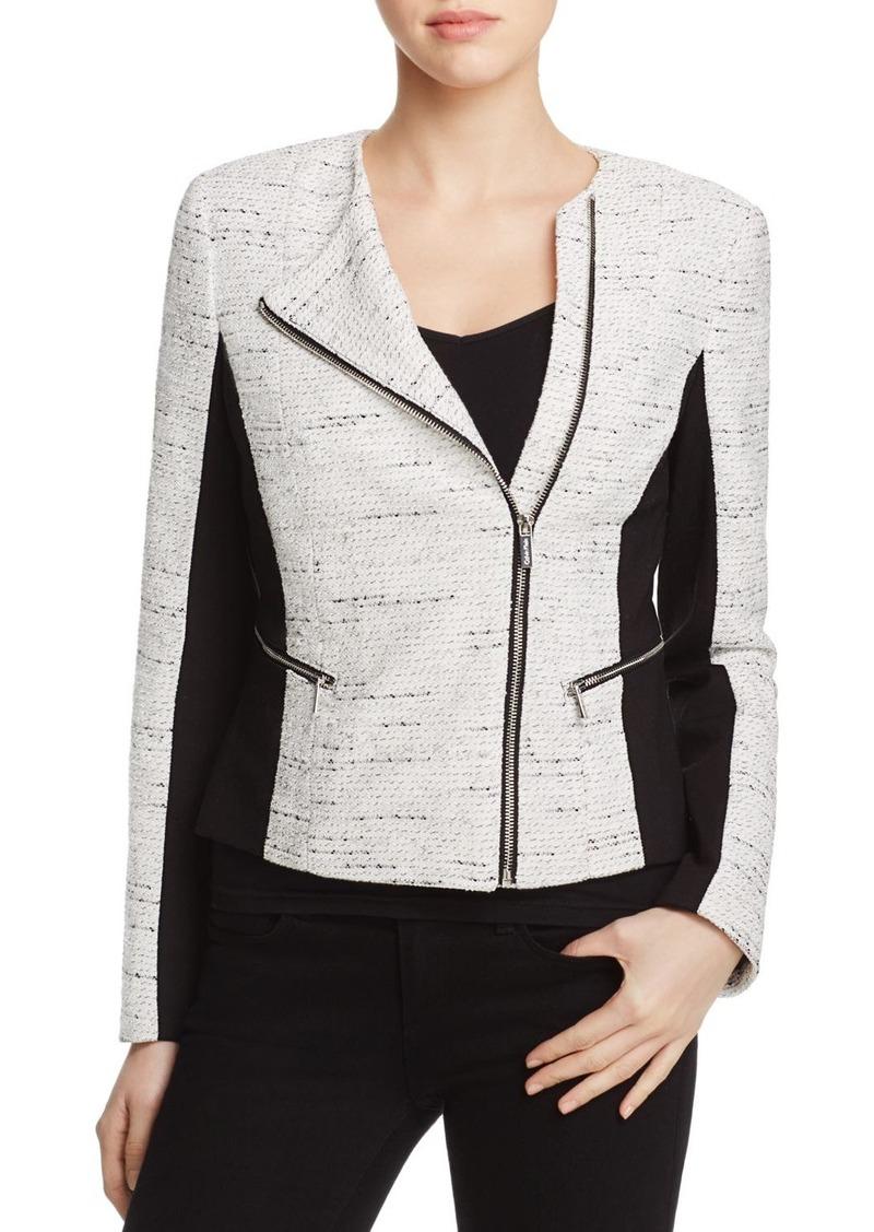 Calvin Klein Mixed Media Tweed Jacket