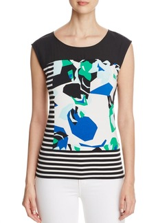 Calvin Klein Mixed Print Sleeveless Top