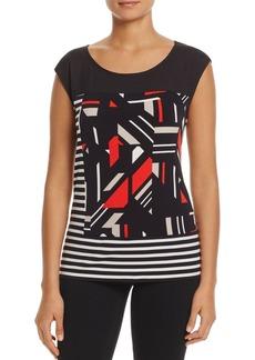 Calvin Klein Mixed Print Sleeveless Top