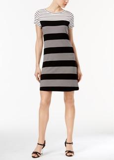 Calvin Klein Mixed-Stripe T-Shirt Dress