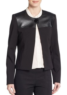 Calvin Klein Mixed-Textile Seamed Jacket