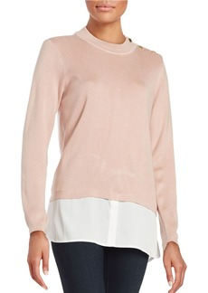 CALVIN KLEIN Mock Layered Sweater