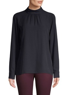 Calvin Klein Mockneck Long-Sleeve Top