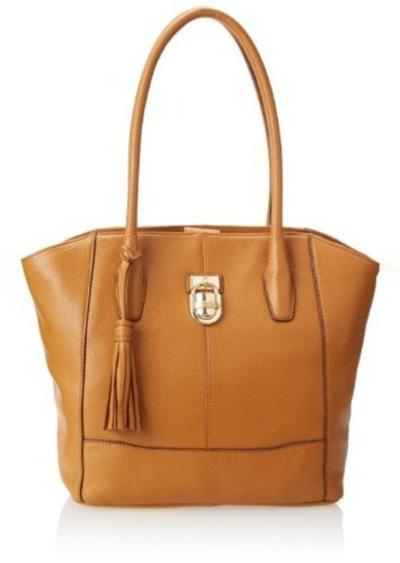 calvin klein calvin klein modena pebble leather tote shoulder bag toffee one size handbags. Black Bedroom Furniture Sets. Home Design Ideas