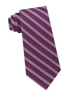 Calvin Klein Modern Bar Striped Silk Tie