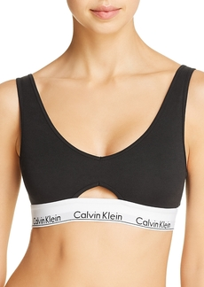 Calvin Klein Modern Cotton Triangle Cutout Bralette